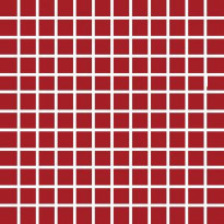 Mosaiikkilaatta Pukkila Pro Technic Color Red Matt, himmeä, sileä, 23x23mm