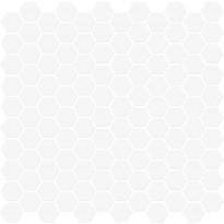 Mosaiikkilaatta Pukkila Miniworx White Hexagon, himmeä, sileä, 25x25mm