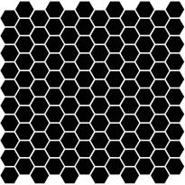 Mosaiikkilaatta Pukkila Miniworx Black Hexagon, himmeä, sileä, 25x25mm