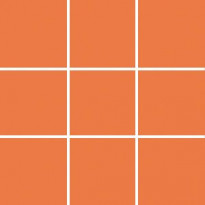 Seinälaatta Pukkila Pro Technic Color Orange, kiiltävä, sileä, 97x97mm