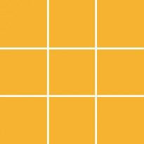 Seinälaatta Pukkila Pro Technic Color Dark Yellow, kiiltävä, sileä, 97x97mm