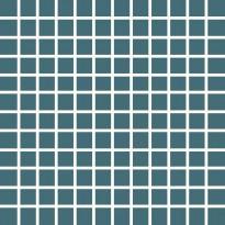 Mosaiikkilaatta Pukkila Pro Technic Color Dark Turquoise, himmeä, sileä, 23x23mm
