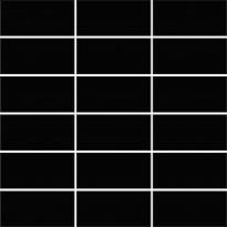 Mosaiikkilaatta Pukkila Miniworx Black, kiiltävä, sileä, 100x50mm