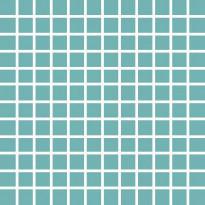 Mosaiikkilaatta Pukkila Pro Technic Color Turquoise, himmeä, sileä, 23x23mm