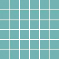 Mosaiikkilaatta Pukkila Pro Technic Color Turquoise, himmeä, sileä, 47x47mm