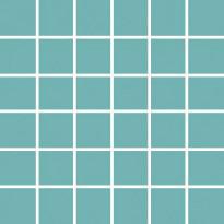 Mosaiikkilaatta Pukkila Pro Technic Color Turquoise, kiiltävä, sileä, 47x47mm