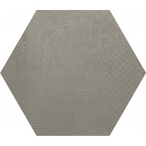 Lattialaatta Pukkila Essence Hexagon Cinza Claro, puolikiiltävä, struktuuri, 592x512mm