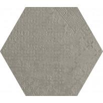 Lattialaatta Pukkila Essence Hexagon Cinza Claro, puolikiiltävä, struktuuri, 29x251mm