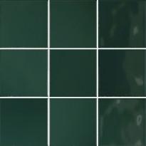Lattialaatta Pukkila Retromix Emerald Green, kiiltävä, sileä, 97x97mm