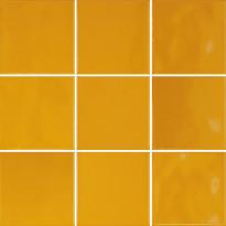 Lattialaatta Pukkila Retromix Amber Yellow, kiiltävä, sileä, 97x97mm