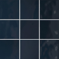 Lattialaatta Pukkila Retromix Sapphire Blue, kiiltävä, sileä, 97x97mm