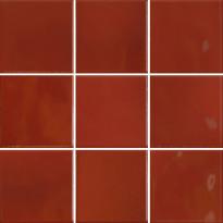 Lattialaatta Pukkila Retromix Lava Red, kiiltävä, sileä, 97x97mm