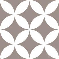 Lattialaatta Pukkila Retromix Warm Circle Negative Medium, himmeä, sileä, 147x147mm
