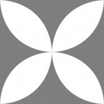 Lattialaatta Pukkila Retromix Cold Circle Negative Large, himmeä, sileä, 147x147mm