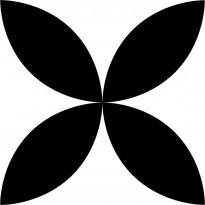 Lattialaatta Pukkila Retromix Black & White Circle Positive Large, himmeä, sileä, 147x147mm
