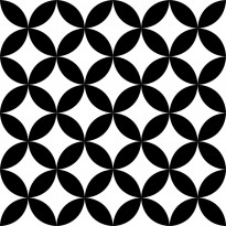 Lattialaatta Pukkila Retromix Black & White Circle Positive Small, himmeä, sileä, 147x147mm