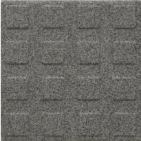 Lattialaatta Pukkila Natura Granite Grey, himmeä, struktuuri, neliönasta, 96x96mm