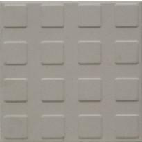 Lattialaatta Pukkila Natura Valkoinen, himmeä, struktuuri, neliönasta, 96x96mm