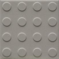 Lattialaatta Pukkila Natura Valkoinen, himmeä, struktuuri, pyörönasta, 96x96mm