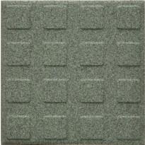 Lattialaatta Pukkila Natura Granite Green, himmeä, struktuuri, neliönasta, 96x96mm