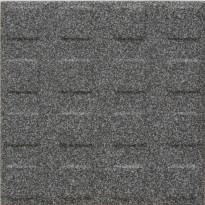 Lattialaatta Pukkila Natura Speckled Black-White, himmeä, struktuuri, neliönasta, 96x96mm