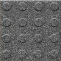 Lattialaatta Pukkila Natura Speckled Black-White, himmeä, struktuuri, pyörönasta, 96x96mm