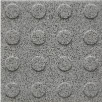 Lattialaatta Pukkila Natura Speckled White, himmeä, struktuuri, pyörönasta, 96x96mm