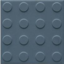 Lattialaatta Pukkila Natura Sininen, himmeä, struktuuri, pyörönasta, 96x96mm