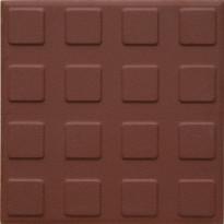 Lattialaatta Pukkila Natura Punainen, himmeä, struktuuri, neliönasta, 96x96mm