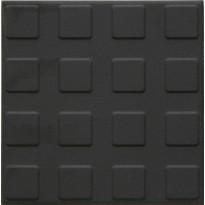 Lattialaatta Pukkila Natura Musta, himmeä, struktuuri, neliönasta, 96x96mm