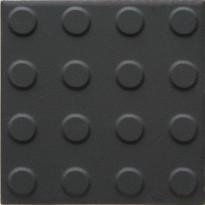 Lattialaatta Pukkila Natura Musta, himmeä, struktuuri, pyörönasta, 96x96mm