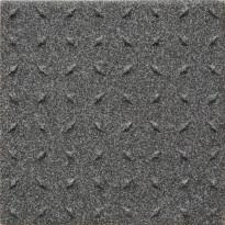 Lattialaatta Pukkila Natura Speckled Black-White, himmeä, struktuuri, dd, 96x96mm