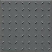 Lattialaatta Pukkila Natura Tummanharmaa, himmeä, struktuuri, dd, 96x96mm