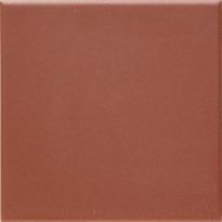 Lattialaatta Pukkila Natura Punainen, himmeä, sileä, 96x96mm, lasikuituverkossa