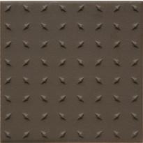 Lattialaatta Pukkila Natura Ruskea, himmeä, struktuuri, dd, 96x96mm