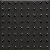 Lattialaatta Pukkila Natura Musta, himmeä, struktuuri, dd, 96x96mm