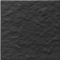 Lattialaatta Pukkila Natura Musta, himmeä, struktuuri, rt 96x96mm