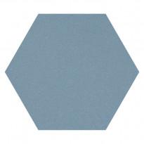 Lattialaatta Pukkila Natura 6-kulmainen Sininen, himmeä, sileä, 115x100mm, 3,68m², Verkkokaupan poistotuote