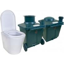 Kompostikäymälä Pikkuvihreä Green Toilet Lux, posliini-istuimella