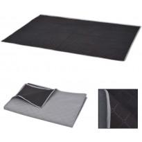 Piknikpeite harmaa ja musta 150x200 cm