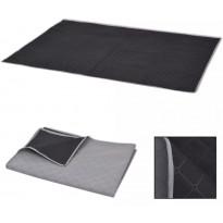 Piknikviltti harmaa ja musta 100x150 cm