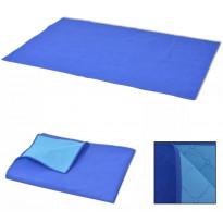 Piknikviltti sininen ja vaaleansininen 100x150 cm