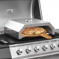 Pizzauuni keraamisella kivellä kaasu tai hiiligrilliin