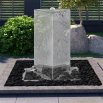 Puutarhan suihkulähde led:llä ruostumaton teräs 76 cm kolmio