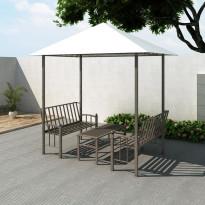 Puutarhapaviljonki pöydällä ja penkeillä 2,5x1,5x2,4 m