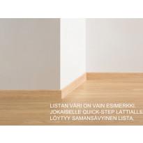 Vakiojalkalista Quick Step, 1553, 58x12x2400mm, ceramic, valkoinen