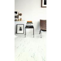 Vinyylilattia Quick Step Livyn Ambient click plus 40136, marmori, valkoinen