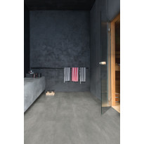 Vinyylilattia Quick Step Livyn Ambient click plus 40051, betoni, tummanharmaa