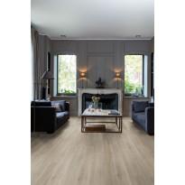 Vinyylilattia Quick Step Livyn Balance 40053, tammi, silkki, harmaanruskea, liimattava