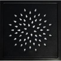 Lattiakaivon kansi Raksa Design, Pisko, 197x197x4, RST, musta